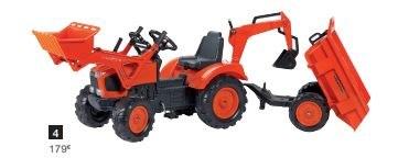 Tracteur à pédales 3 accessoires KUBOTA