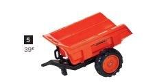 Remorque pour tracteur à pédales KUBOTA